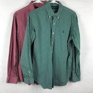 Ralph Lauren Cotton Shirt Lot (2 Shirts)